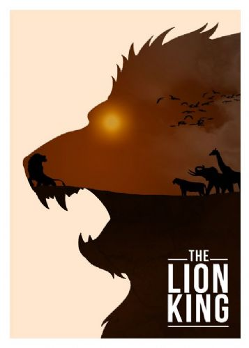 1990's Movie - THE LION KING MINIMAL 1 canvas print - self adhesive poster - photo print